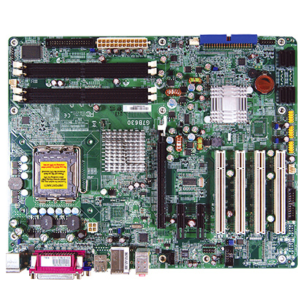 ATX Motherboard with 4x PCI, 1x PCIex16, 2x PCIex1 Expansion Slots and Core 2 Duo / Quad Processor with Intel Q965 + ICH8 Chipset