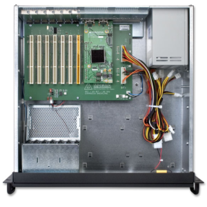 4U black industrial expansion chassis with PCIex8 Inside