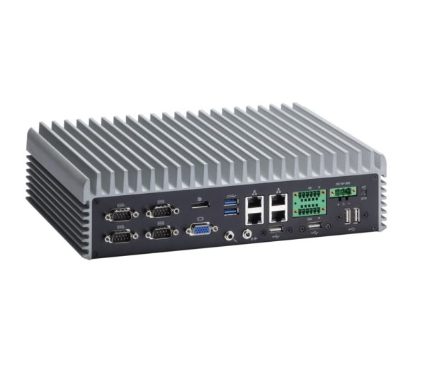 EBX367 Fanless Embedded System with 3rd Gen Core i7, i5, i3 and 4x COM and 4x USB and 8x DIO Rear