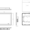 """P117 17"""" LCD Wide Temperature Fanless Touch Panel PC-2070"""