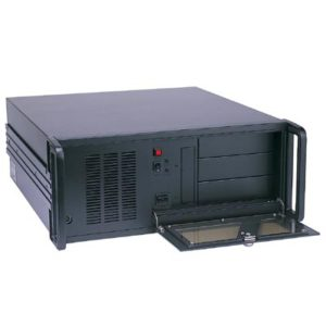 "4U Black Industrial Rackmount Chassis with 3x 5.25"" External; 1x 3.5"" Internal Drive Bays"