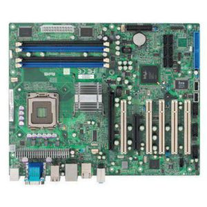 ATX motherboard with 5x PCI; 1x PCIex16; 1x PCIex4 expansion slots, and Core 2 Duo / Quad processor with Intel Q35 + ICH9DO chipset