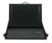 "KVD081 15"" LCD Rackmount Keyboard Console with 8-Port KVM Switch-746"