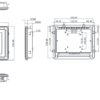 "PAN148-J1900 8.4"" LCD Fanless Touch Panel PC Dimensional Chassis Drawing"
