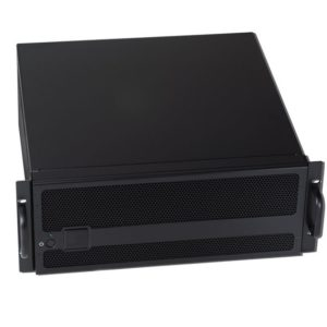 4U black industrial expansion chassis with PCIex8