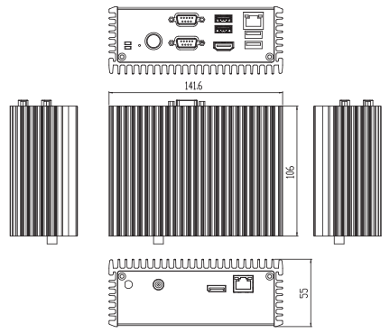 EBX423 Dimensional Chassis Drawing