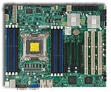 ATX Motherboard with 1x PCIex16 (3.0), 1x PCIex8 (3.0), 1x PCIex4 (2.0), 3x PCI-X